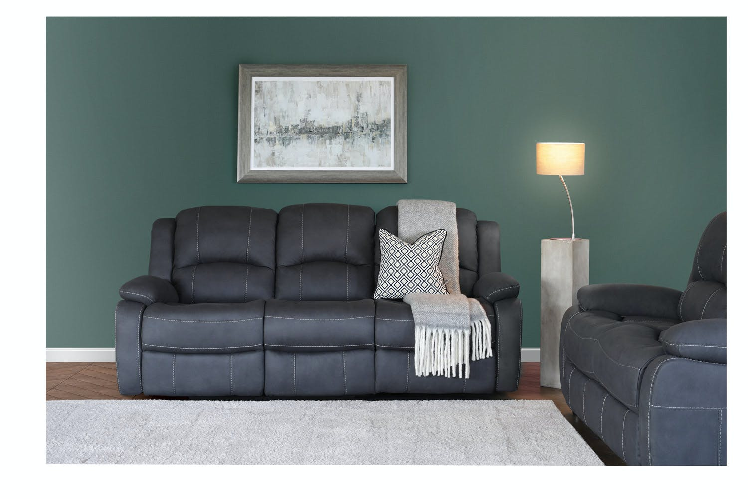 Ramona 3 Seater Recliner | Manual