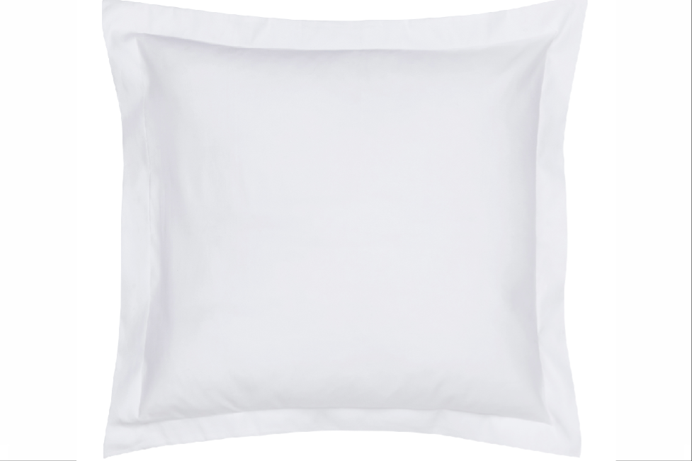 Paramount Oxford Pillowcase | Square | Plain White