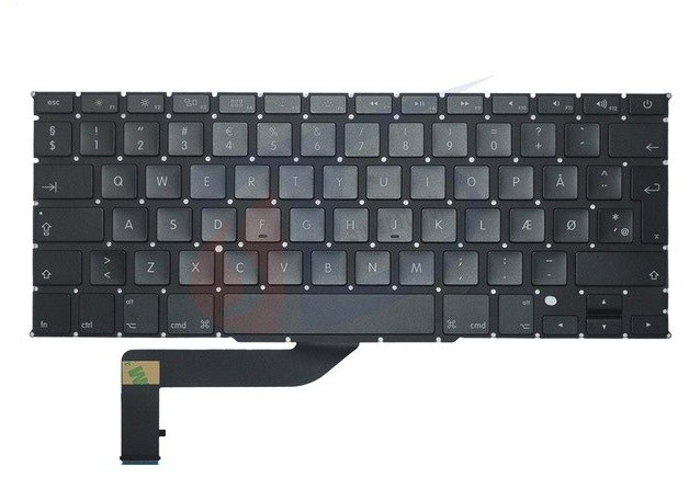 2-Power Backlit Danish Keyboard