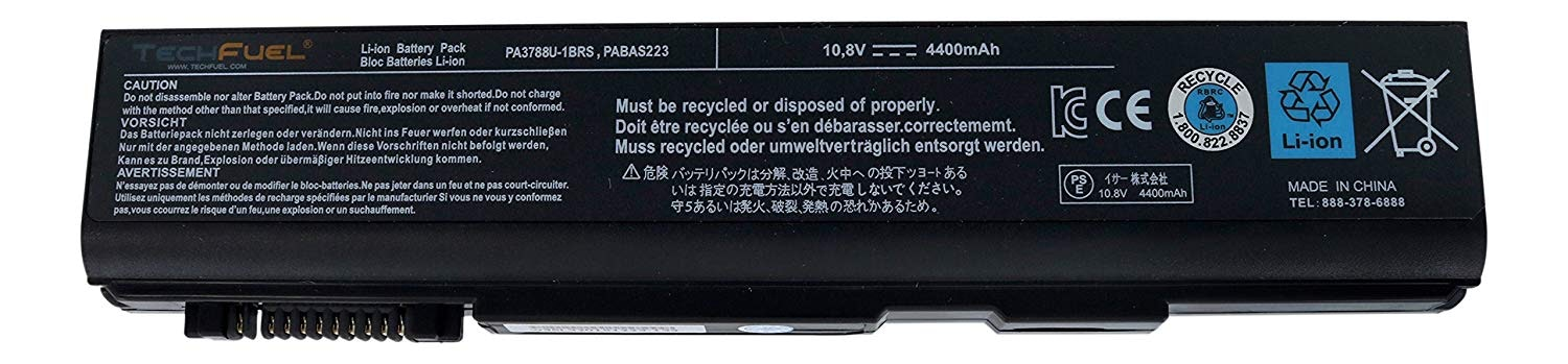 Toshiba Main Battery 10.8V 4400mAh