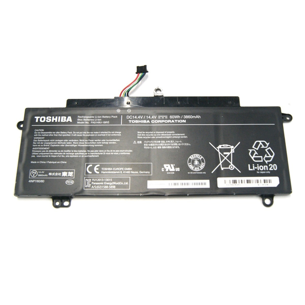 Toshiba 4-Cell Battery 14.4V 3860mAh