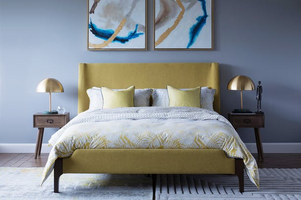 Hagan Golden Bed Frame | Double | 4ft6
