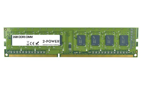 2-Power 2GB DDR3 CL9 Non-ECC DIMM 2Rx8