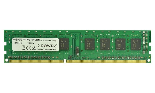 2-Power 4GB DDR3 CL11 Non-ECC DIMM 1Rx8