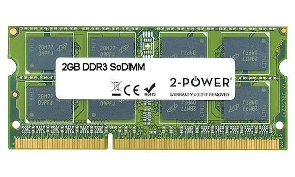 2-Power 2GB DDR3 CL7 SoDIMM 2Rx8