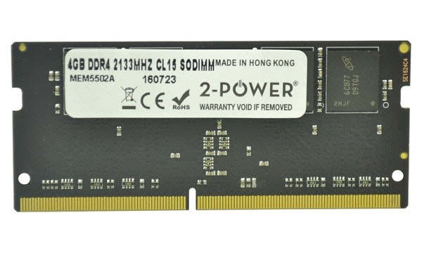 2-Power 4GB DDR4 CL15 Non-ECC SoDIMM 1Rx8