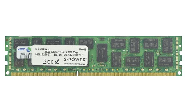 2-Power 16GB DDR3 CL9 RDIMM (2Rx4) 1.35V