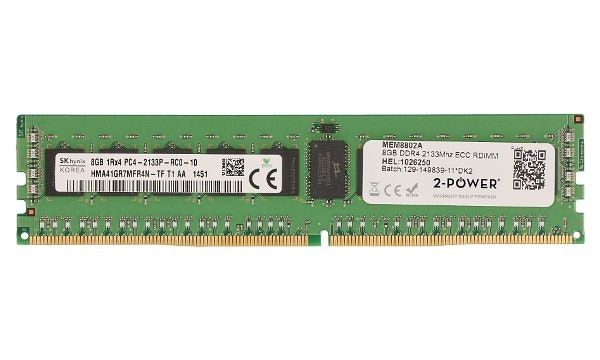 2-Power 8GB DDR4 CL15 RDIMM (1Rx4)
