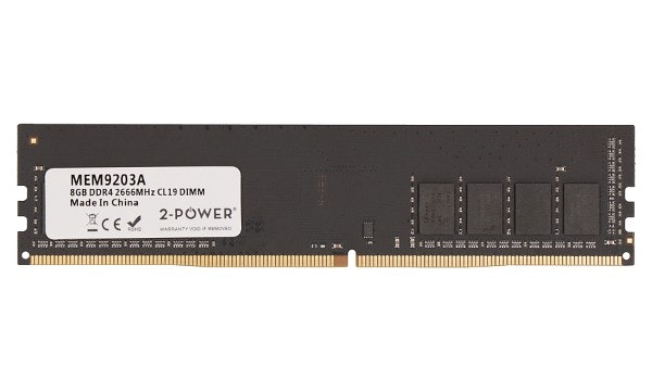 2-Power 8GB DDR4 CL19 Non-ECC DIMM 1Rx8