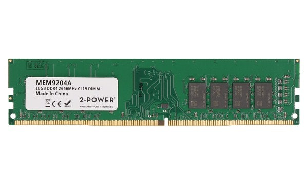2-Power 16GB DDR4 CL19 Non-ECC DIMM 2Rx8