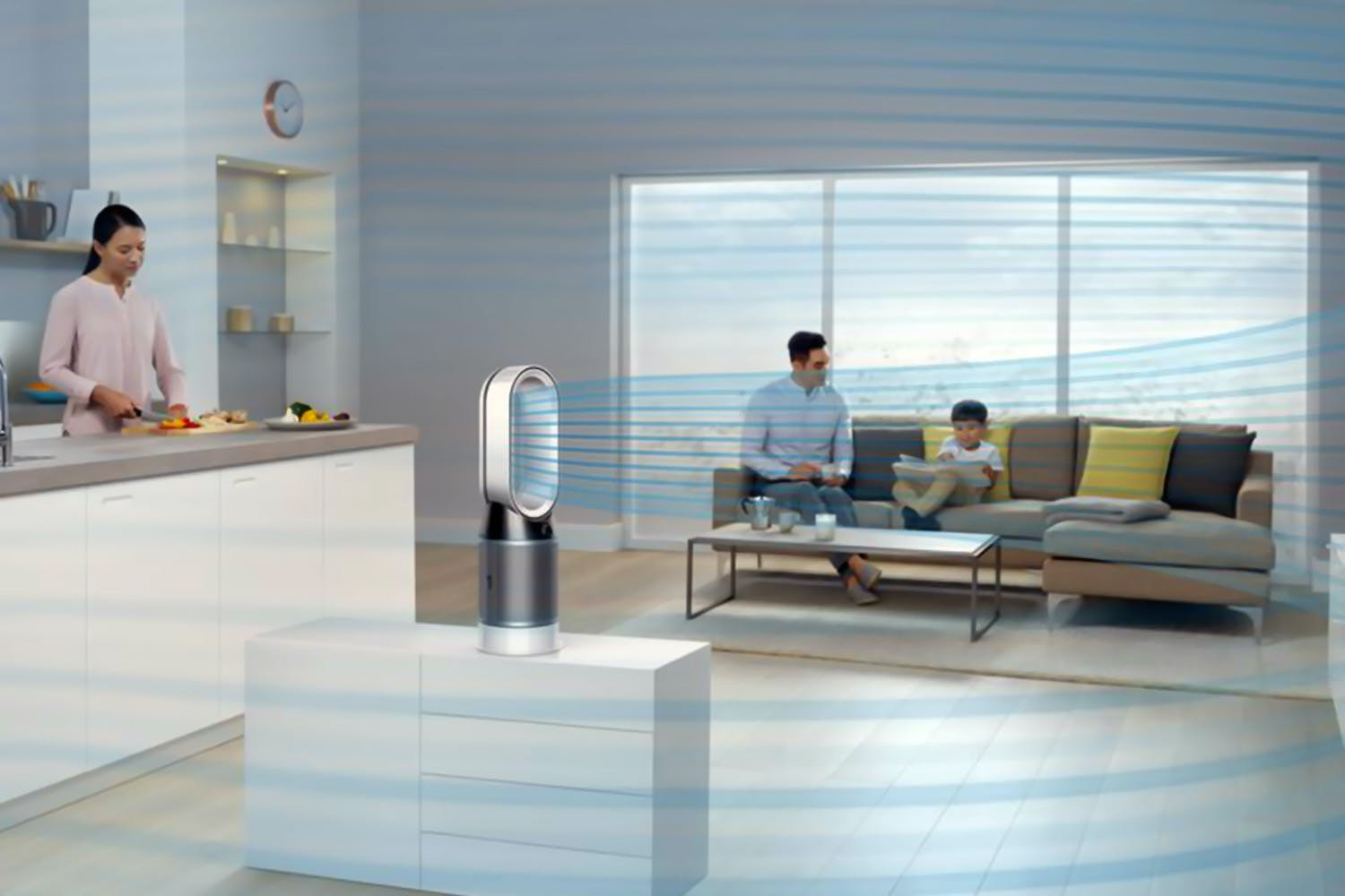 Dyson Pure Hot and Cool Purifier | White/Silver