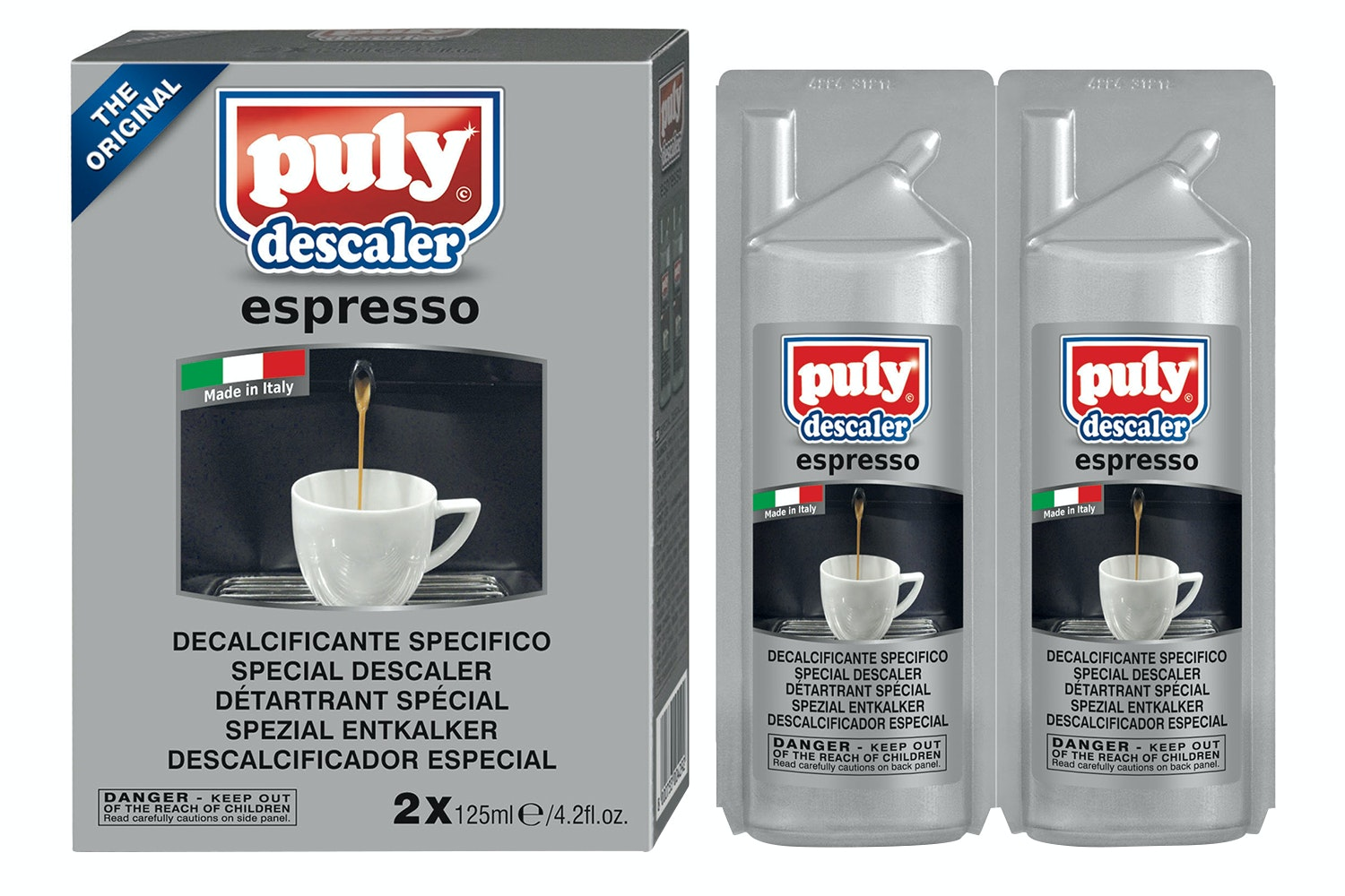 Puly Descaler Espresso Liquid | Twin Pack