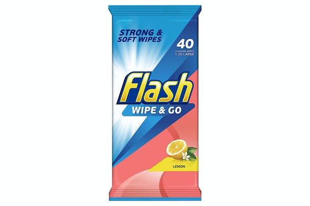 Flash Wipe and Go Lemon Cleaning Wipes | FL5410076791743