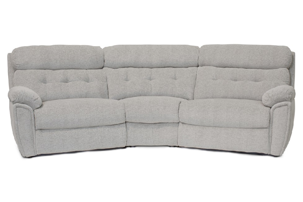 Kayla 4 Seater Large Curved Corner Sofa | Manual Recliner