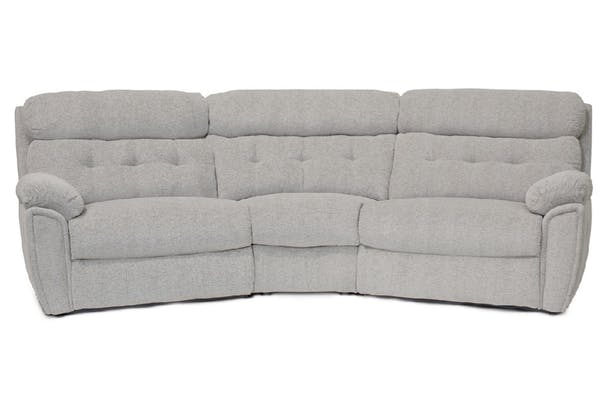 Kayla Curved Corner Sofa |4 Seater | Large | Manual Recliner