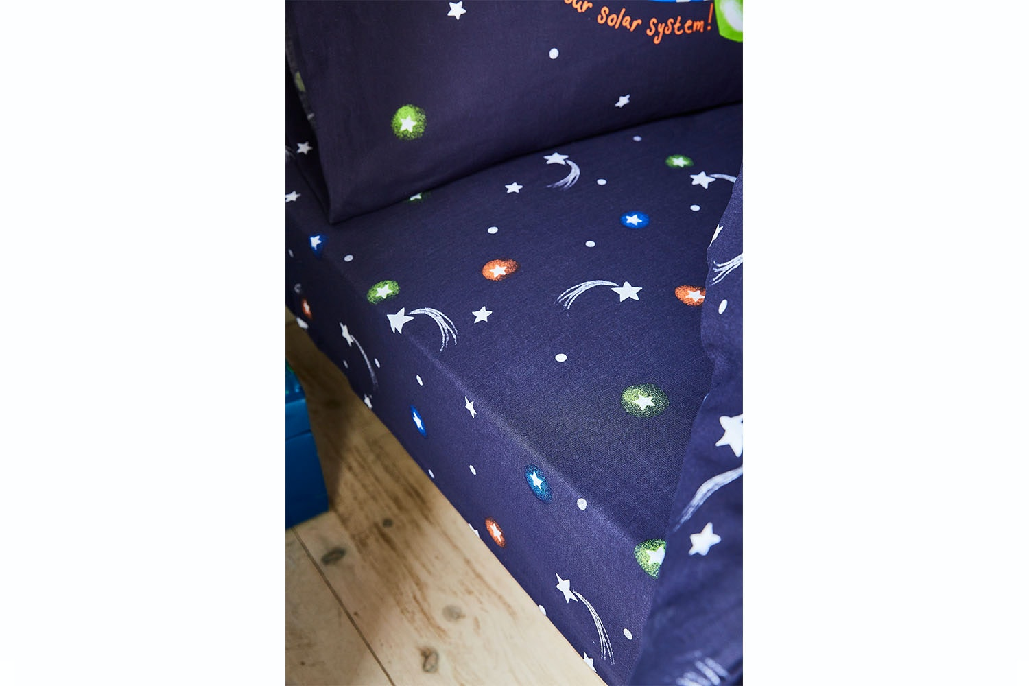 Happy Space Fitted Sheet | Navy | Single