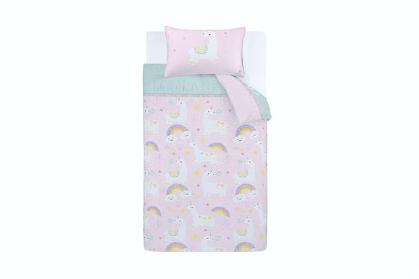 Llama-Corn Duvet Set | Pink | Single