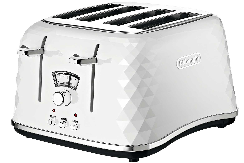 Delonghi Brilliante 4 Slice Toaster White