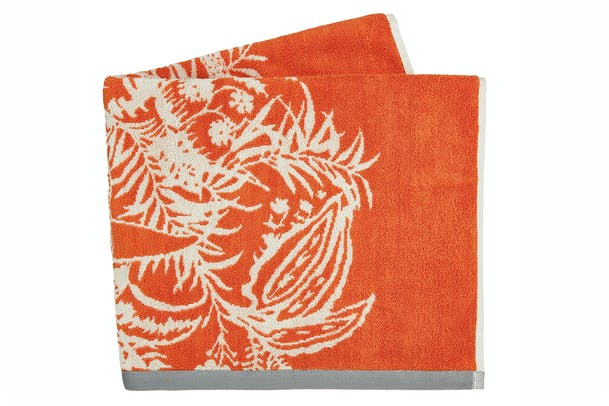 Toco Bath Sheet Towels | Papaya & Slate