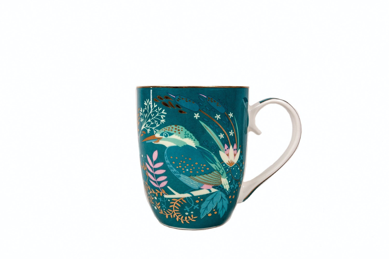 Tipperary Crystal Mug | Single | Birdy | Kingfisher
