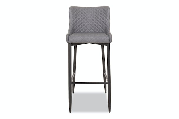 Saxon High Bar Stool | Grey