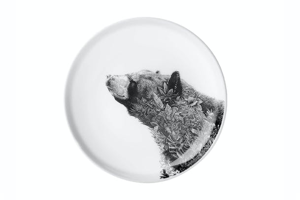 Marini Ferlazzo Wildlife Black Bear Plate