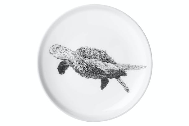 Marini Ferlazzo Wildlife Sea Turtle Plate