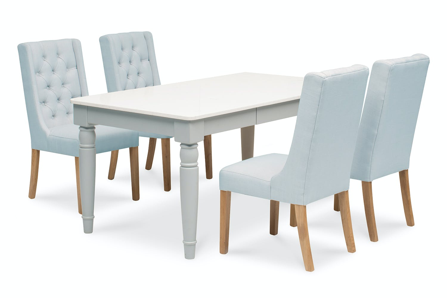 Carlow 5 Piece Dining Set With Elsa Chair Natural