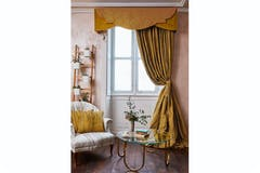 Bamboo Ready Made Curtains  | Ochre | 229 x 229cm