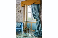 Deco Heron Ready Made Curtains | Teal | 229 x 183cm
