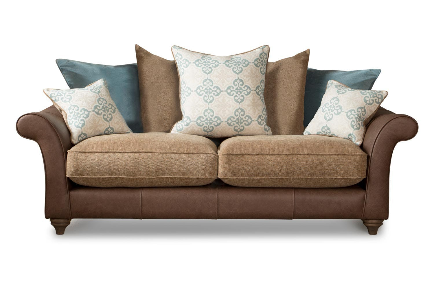 07f99dcc5367 Lloyd 3 Seater Scatter Back Heritage Sofa |Angus Gold&Lunga Blue ...