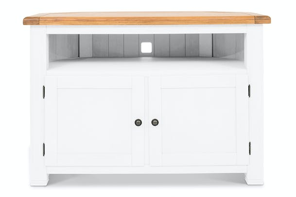Dawn Corner TV Unit | White