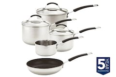 Meyer Stainless Steel 5 Piece Induction Pan Set | 74003