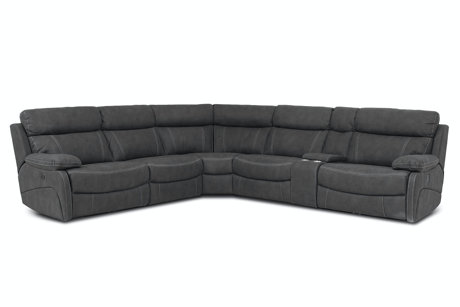 STAGE RIGHT HAND Large Corner Sofa-Faux Leather with ...