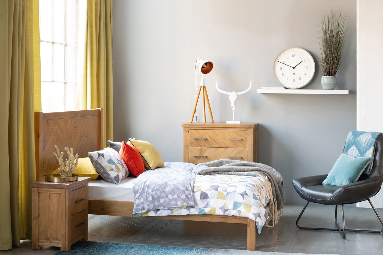 Grey Vintage Bedroom: Retro-T Bedroom Chair Kenia Grey