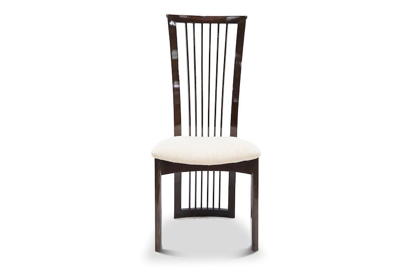 Strasbourg Dining Chair | High Gloss | Cream & Brown