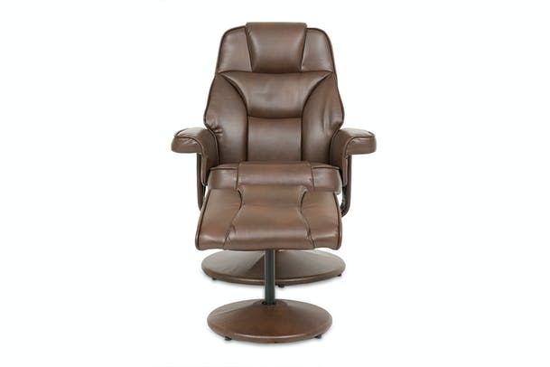 Tamio Recliner with Footstool | Manual | Brown