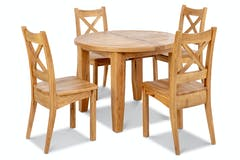 Tisbury Dining Set | Round | 5 Piece | Oak