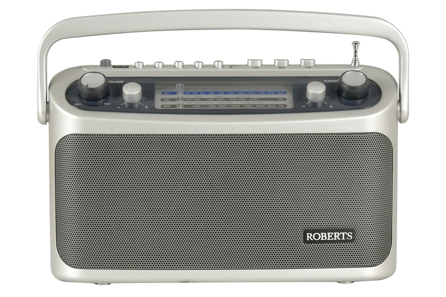 Roberts Classic 928 Portable Analogue Radio | Silver