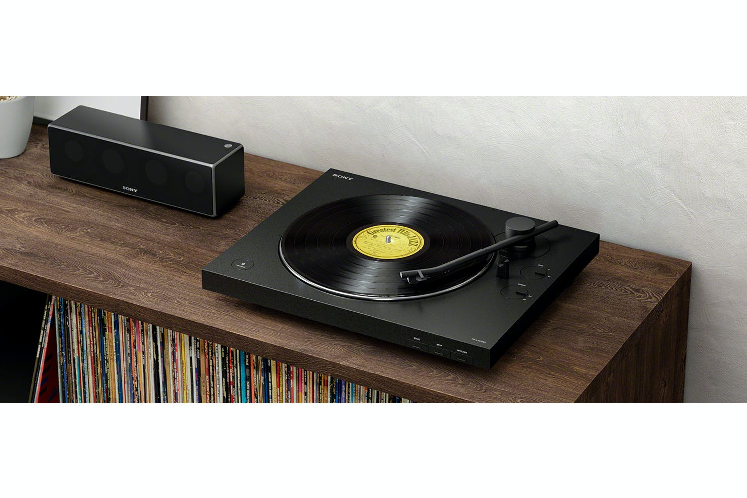 Sony Bluetooth Turntable Vinyl Record Player| Black