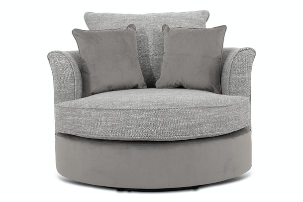 Dillon Swivel Chair | Grey