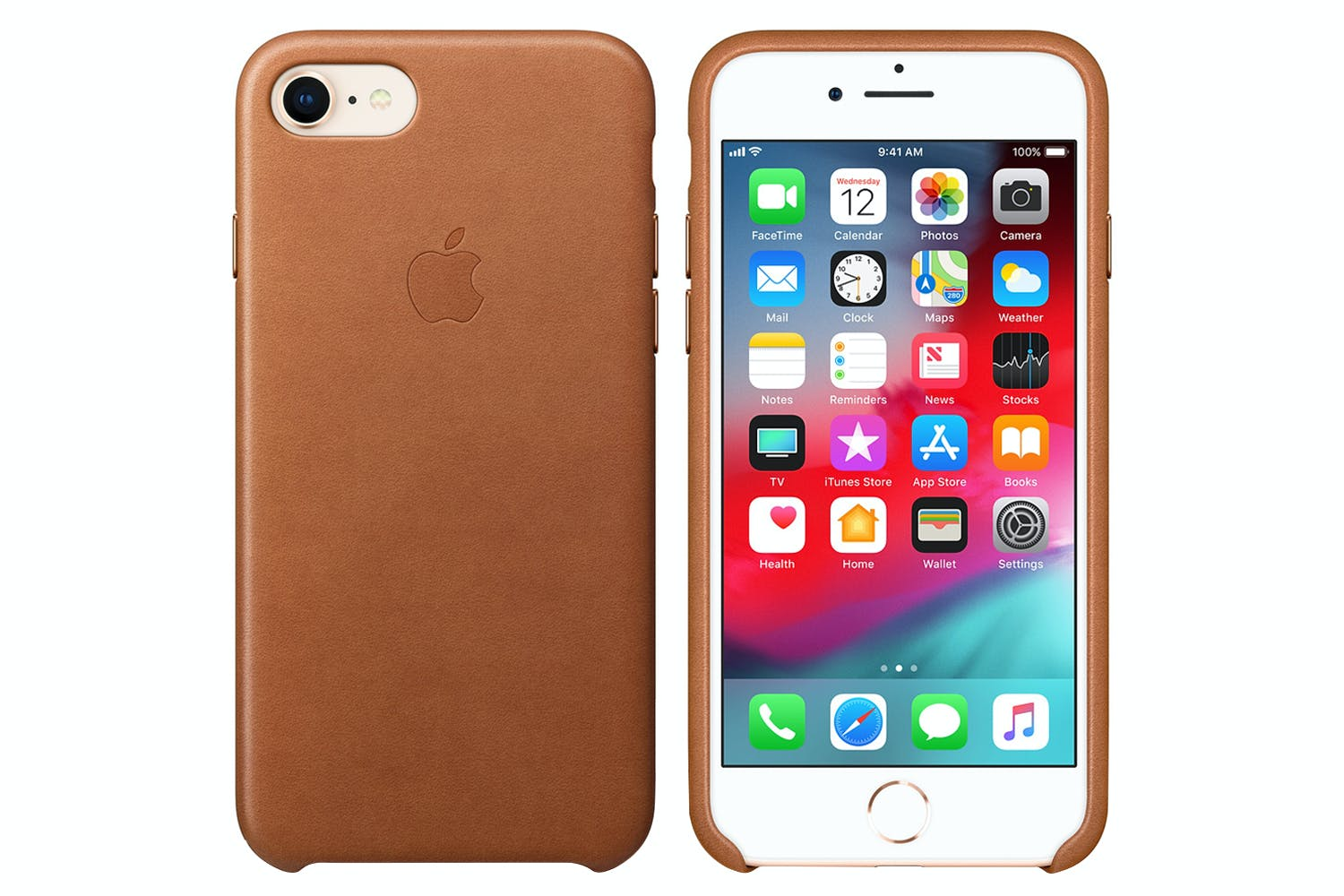 premium selection e2d85 f2fba iPhone 8/7 Leather Case | Saddle Brown