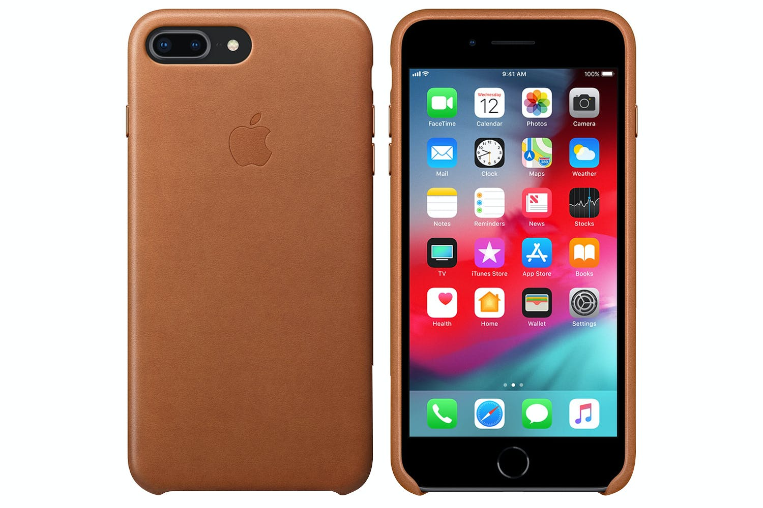 brand new 3a9d9 423e2 iPhone 8/7 Plus Leather Case | Saddle Brown