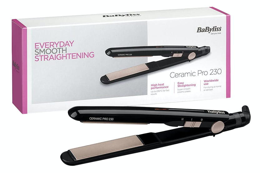 Babyliss Pro Ceramic 230 Hair Straightener | 2069U | Black