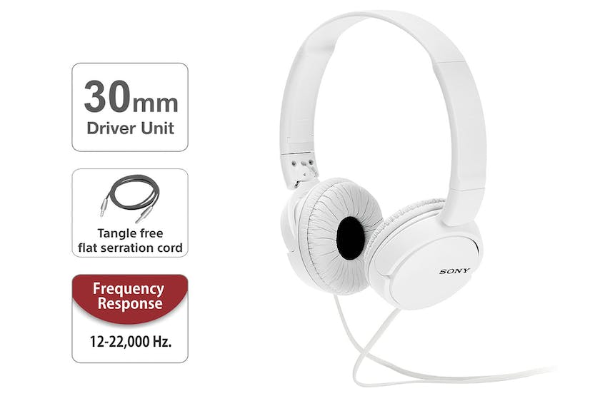 Sony MDR-ZX110 On-Ear Headphones | White