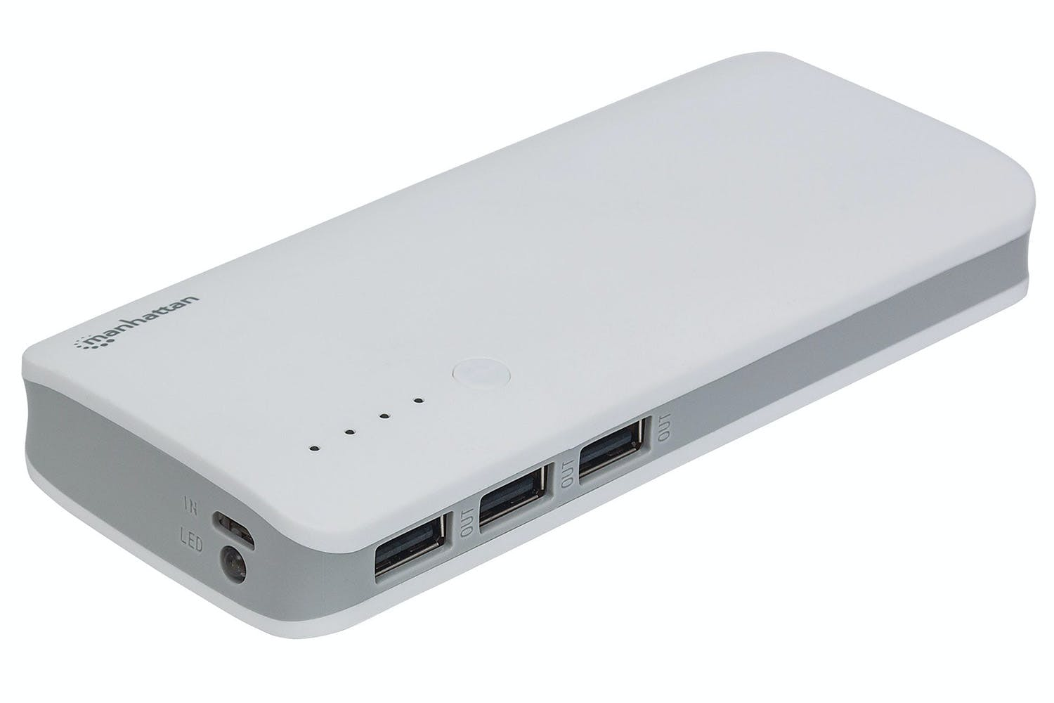 Manhattan 10000mAh Power Bank | White