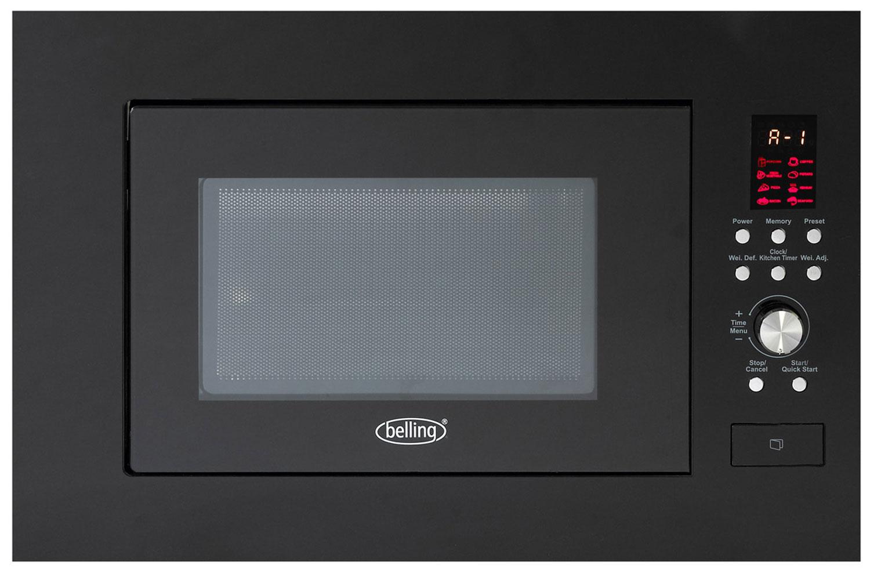 Belling 23l 900w Built In Microwave Black