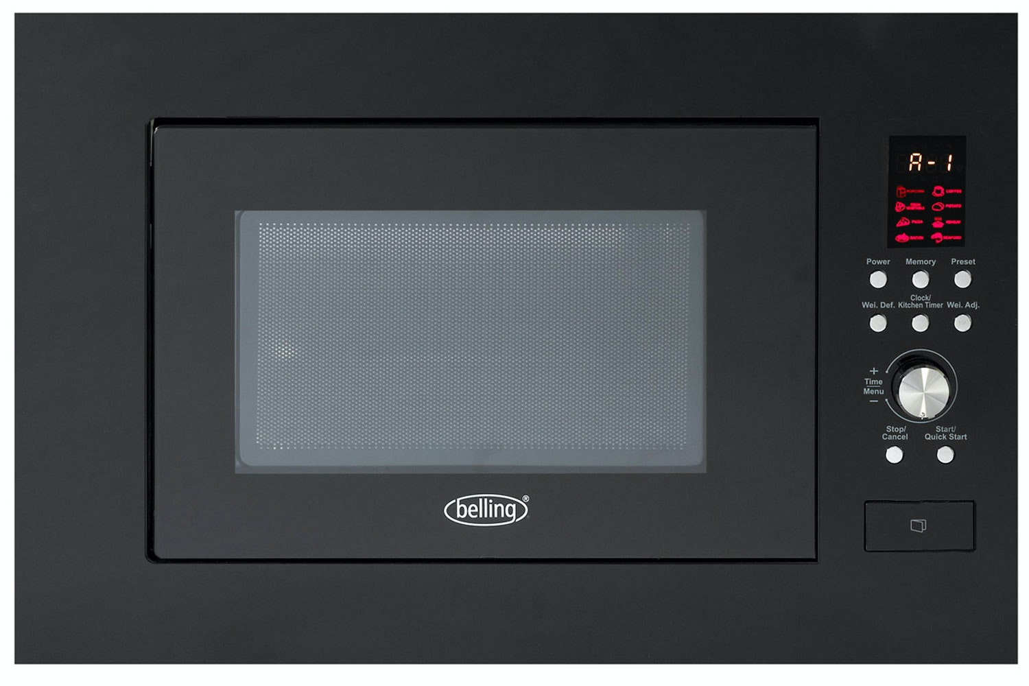 Belling 23L 900W Built In Microwave | Black