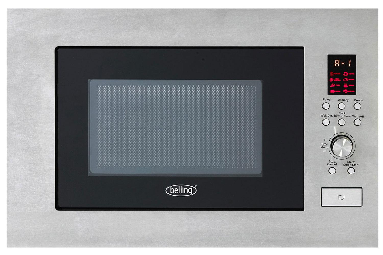 Belling 23l 900w Built In Microwave Stainless Steel