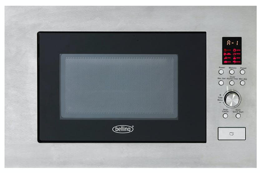 Belling 23L 900W Built In Microwave | Stainless Steel